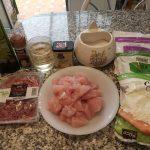 Menestra con carne de pavo, cerdo o ternera