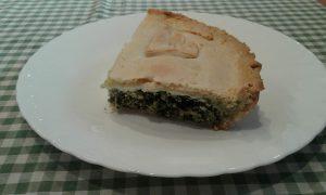Tarta Pascualina de alcachofas - espinacas y huevos