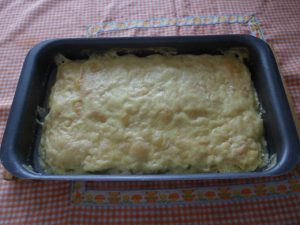 Lazaña de calabacín - pavo y queso