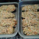 Berenjenas rellenas de verduras y arroz al curry