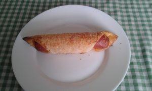 Croissant de salchicha de pollo-pavo