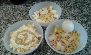 Ensalada de pollo y mostaza