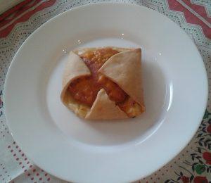 Hamburguesas 4 salsa sobre masa brisa al horno