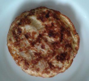 Tortitas de pollo y cebolla