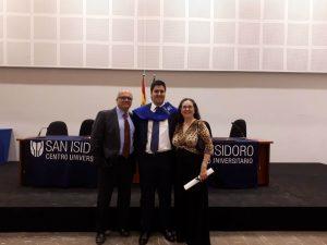 Graduación en ADE de Sergio el 28 de Junio del 2018
