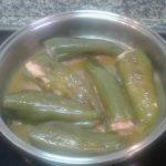 Pimientos rellenos de carne a la pimienta