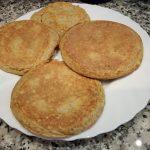 Pan o Torta Dukan en sartén para dietas