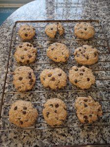 Cookies de copos de avena y perlitas de chocolate