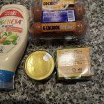Palmeritas de hojaldre con atún, huevo y mayonesa