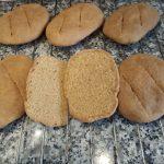 Pan de harina y avena con bicarbonato