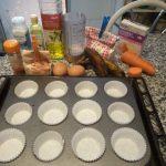 Magdalenas o Muffins de zanahoria y plátano